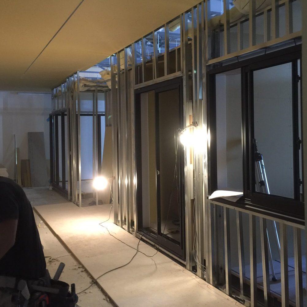 愛知県名古屋市の建築一般工事 リフォーム工事の株式会社松昇の静岡県 モデルルーム工事(軽量、ボード工事)