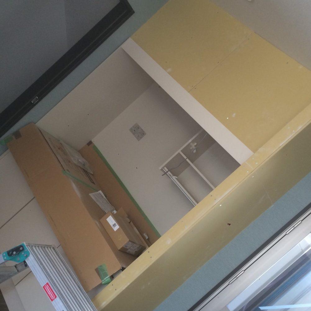 愛知県名古屋市の建築一般工事 リフォーム工事の株式会社松昇の市内某現場 ボード工事