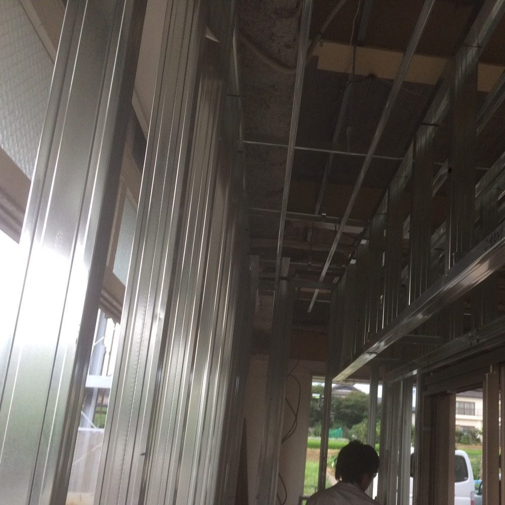 愛知県名古屋市の建築一般工事 リフォーム工事の株式会社松昇の豊田市 モデルルーム工事(軽鉄工事