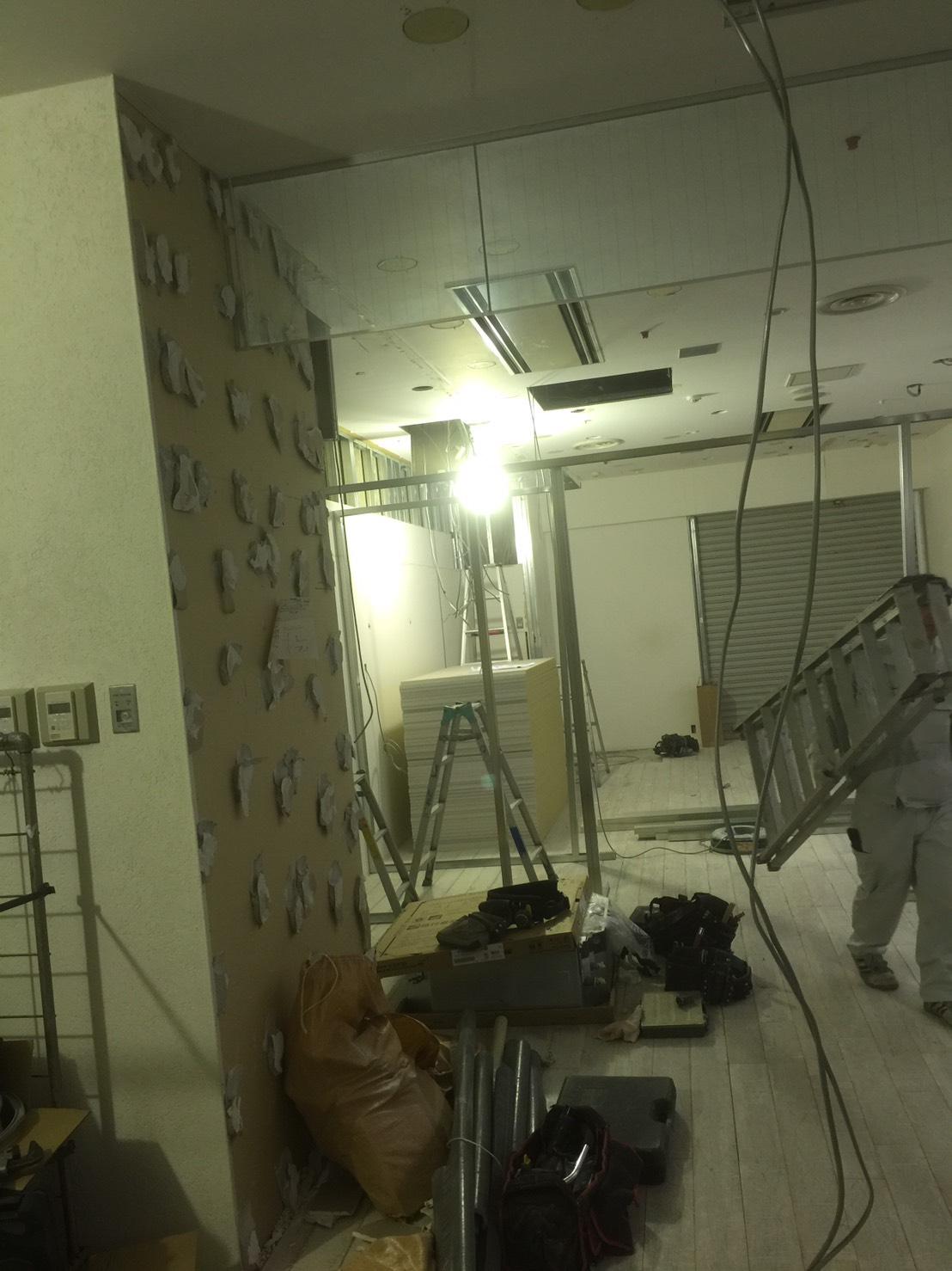 名古屋市内テナント工事(軽鉄、ボード工事) 松昇の店舗改装工事 施工事例