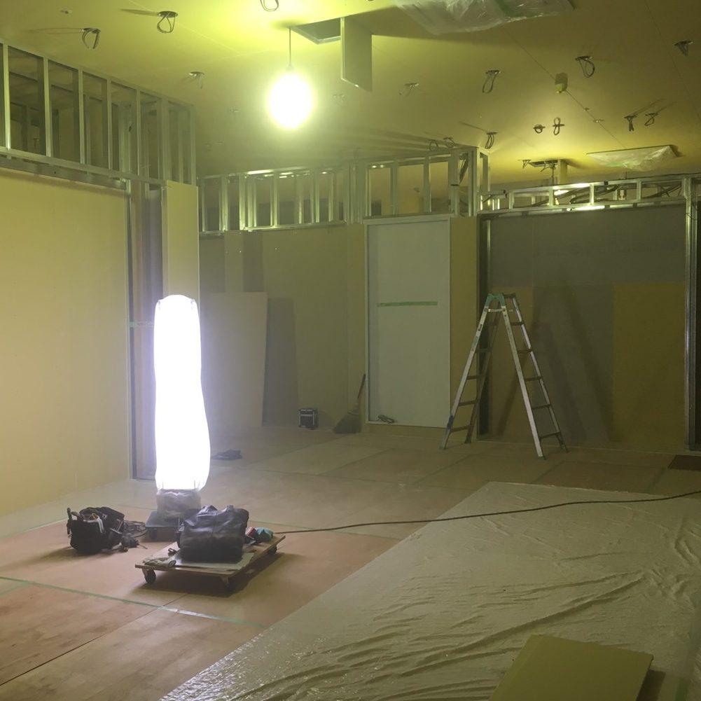 松昇の施工事例 市内テナント工事(ボード工事)